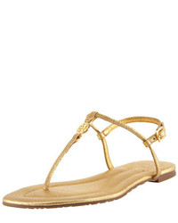 Emmy metallic thong sandal medium 206595
