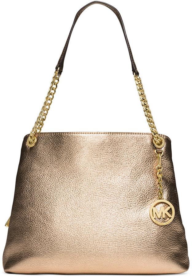 c0752e4f9ed8 Gold Leather Tote Bags MICHAEL Michael Kors Michl Michl Kors Jet Set Chain  ...