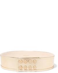 Gold Leather Waist Belt