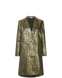 Layeur Metallic Double Breasted Coat