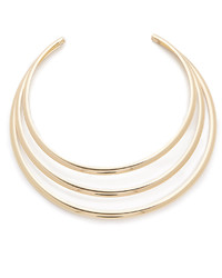 Kenneth Jay Lane 3 Band Collar Necklace