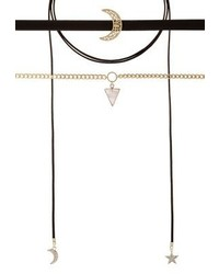 Missguided 3 Pack Necklace Gold Coloured