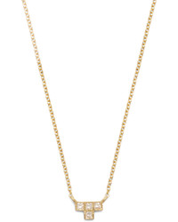 Diamond yellow gold necklace medium 1148749