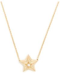 Diamond yellow gold necklace medium 1156785