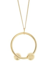 J.W.Anderson Double Sphere Gold Plated Necklace