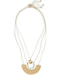 Topshop Ball U Plate Pendant Necklaces