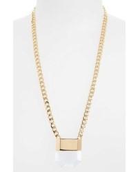 Topshop Clear Acrylic Drop Necklace
