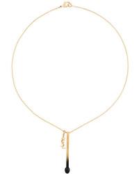 Saint Laurent Matchstick Pendant Necklace