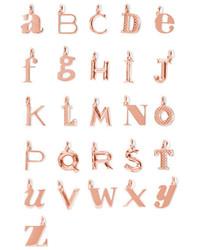 Monica Vinader A Z Alphabet Letter Rose Gold Vermeil Pendants G