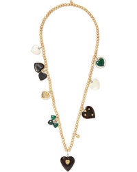 Carolina Bucci Recharmed Ti Amo 18 Karat Gold Multi Stone Necklace