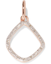 Monica Vinader Riva Kite Rose Gold Vermeil Diamond Pendant One Size