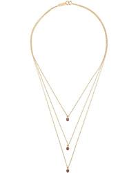 Isabel Marant Triple Layer Pendant Necklace