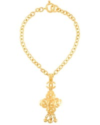 Chanel Vintage Maltese Cross Pendant Necklace