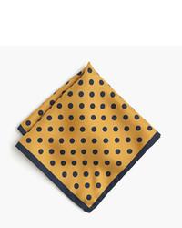 English silk pocket square in polka dot medium 735334