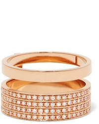 Repossi Berbre 18 Karat Rose Gold Diamond Ring