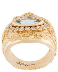 Aurelie Bidermann Cashmere Aquamarine And Diamond Ring