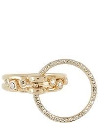 Charlotte Chesnais Fine Jewellery Three Lovers Diamonds Yellow Gold Ring