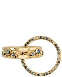 Charlotte Chesnais Fine Jewellery Three Lovers Sapphire Topaz Yellow Gold Ring