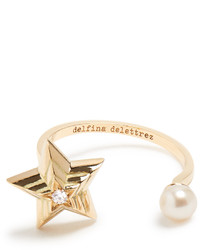 Delfina Delettrez Diamond Pearl Yellow Gold Ring