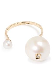 Delfina Delettrez Diamond Pearl Yellow Gold Ring
