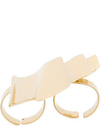 Saint Laurent Graphic Shaped Double Ring