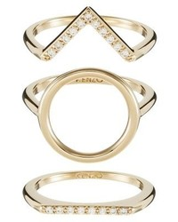 Kenzo Sand Ring Gold Coloured