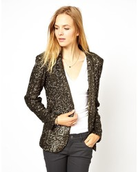 Gestuz Sequin Fitted Blazer