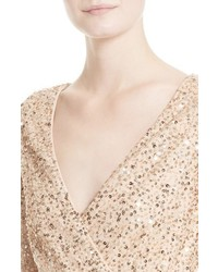Rachel Gilbert Sequin Body Con Dress