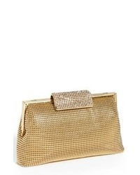 Whiting & Davis Crystal Frame Clutch Gold