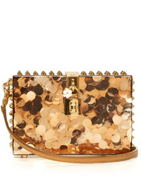 Dolce & Gabbana Dolce Box Sequinned Plexiglass Clutch