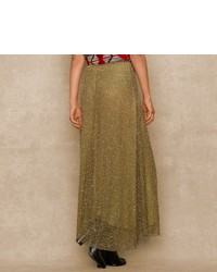 Ralph Lauren Blue Label High Low Sequined Skirt