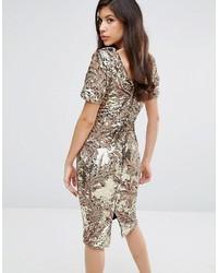 475b7bbff8ab Club L Sequin Midi Dress With Cap Sleeve, £78 | Asos | Lookastic UK