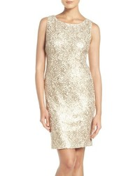 Chetta B Sequin Lace Sheath Dress