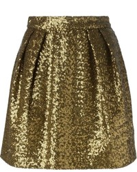 MSGM Sequinned Short Skirt