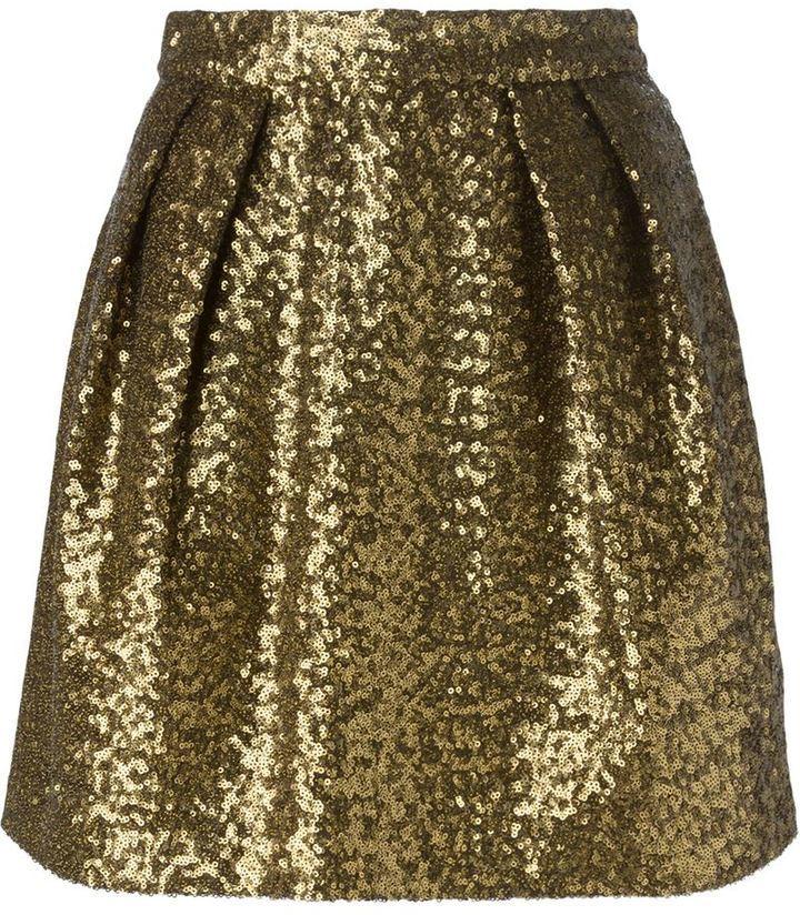 MSGM Sequinned Short Skirt