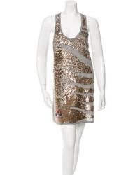 Roberto Cavalli Sequin Embellished Mini Dress