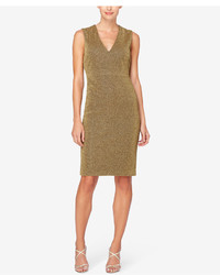 Catherine Malandrino Paca Metallic Scuba Sheath Dress