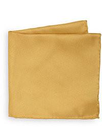 Gold Silk Pocket Square