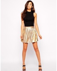 Jovonna School Of Rock Pleated Mini Skirt