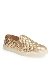 Gold Slip-on Sneakers