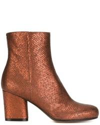 Maison Margiela Snakeskin Effect Ankle Boots
