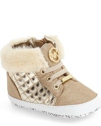 MICHAEL Michael Kors Michl Michl Kors Baby Lee Faux Fur Cuff High Top Sneaker