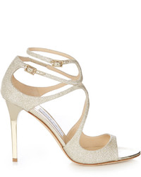 Jimmy Choo Lang 100mm Glitter Sandals