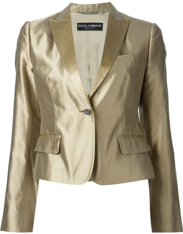 Dolce & Gabbana Metallic Trouser Suit