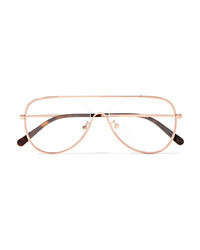 Stella McCartney Aviator Style Gold Tone Optical Glasses