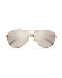 Givenchy Aviator Style Gold Tone Sunglasses