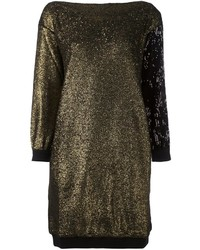 Gold Sweater Dress