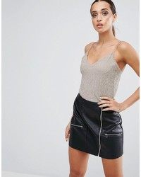 Asos Cami Top In Metallic Shimmer