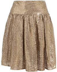 MICHAEL Michael Kors Michl Michl Kors Sequined Tulle Mini Skirt Gold