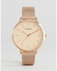 Sekonda 2475 Mesh Watch In Rose Gold